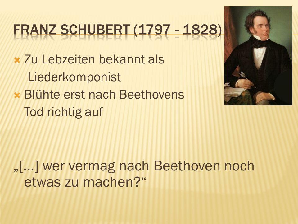 """""""[…] wer vermag nach Beethoven noch etwas zu machen"""